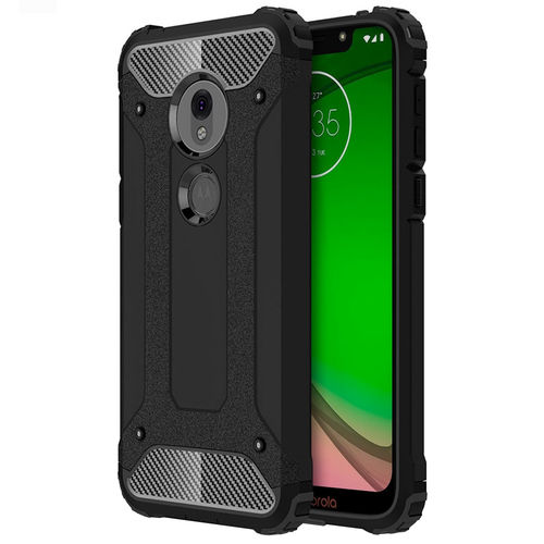 Military Defender Shockproof Case for Motorola Moto G7 Play - Black
